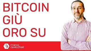 BITCOIN Bitcoin giù e oro su (ma è complicato)