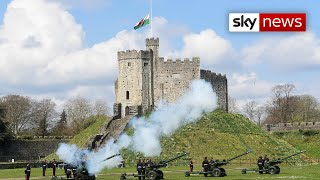 Watch live: Gun salutes marking the death of Prince Philip take place