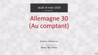DAX30 Perf Index Achat Allemagne 30 au comptant - Idée de trading IG 14.03.2019