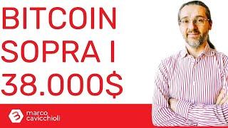 BITCOIN Prezzo di bitcoin: oggi sopra i 38.000$