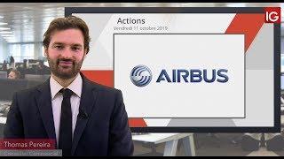 AIRBUS Bourse - Airbus retour sous les MME 50 et 100 jours - IG 11.10.2019