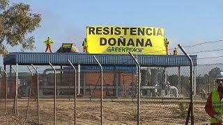 NATURAL GAS Greenpeace intenta paralizar las obras de Gas Natural en Doñana