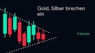 GOLD - USD Gold, Silber brechen ein