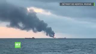 Deux navires prennent feu dans le détroit de Kertch