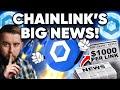 Chainlink Has BIG NEWS!!! $1000 LINK Is Destiny!!!!