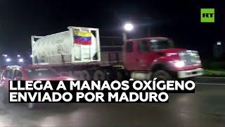 Llegan a Brasil 5 camiones con oxígeno enviados por Venezuela