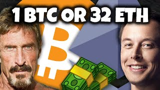 BITCOIN 1 BITCOIN or 32 ETHEREUM - Which Will Get YOU Rich Quick???