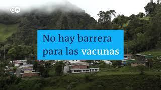 Brigadas de vacunación en medio de las montañas