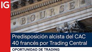 CAC40 INDEX Predisposición alcista del CAC 40 francés por parte de TRADING CENTRAL | Oportunidad de trading