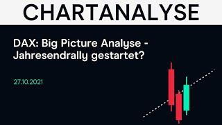 DAX40 PERF INDEX DAX: Big Picture Analyse - Jahresendrally gestartet? #DAX