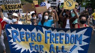SUPREME ORD 10P Des manifestants pro-avortement réclament la démission du juge à la cour suprême Brett Kavanaugh