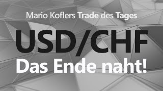 USD/CHF Trade des Tages - Umkehrmuster im USD/CHF H1