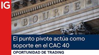 CAC40 INDEX El PUNTO PIVOTE actúa como soporte en el CAC 40 - 2 posibles escenarios | Oportunidad de trading