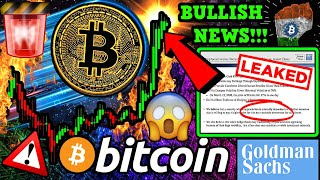 BITCOIN BITCOIN BREAKOUT!? LEAKED: Goldman Sachs BTC Call DETAILS! BULLISH INDIA NEWS!!!