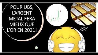 GOLD - USD En 2021, l'argent pourrait faire mieux que l'or selon UBS (16/01/21)