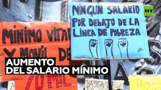Organizaciones sociales argentinas exigen un aumento en el salario mínimo