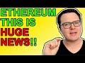 BIGGEST ETHEREUM NEWS OF 2021!!!!