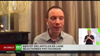 FACEBOOK INC. Articles choisis par Facebook : «A partir du moment où il y a une sélection, il y a une censure»