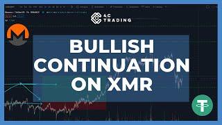 MONERO Bullish continuation on XMR? #crypto #monero #trading #4ctrading