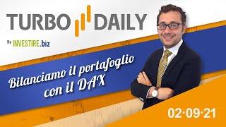 DAX40 PERF INDEX Turbo Daily 02.09.2021 - Bilanciamo il portafoglio con il DAX