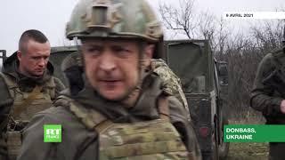 Ukraine : Volodymyr Zelensky inspecte les troupes sur la ligne de front dans le Donbass