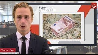 EUR/USD Bourse - EURUSD, pas de confirmation d'une baisse de taux en juillet - IG 11.07.2019