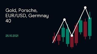 GOLD - USD Gold, Porsche, EUR/USD, Germnay 40 (CMC BBQ 25.10.21)
