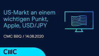 USD/JPY US-Markt an einem wichtigen Punkt, Apple, USD/JPY (CMC BBQ 14.08.20)