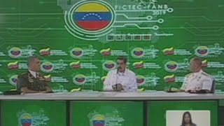 """Maduro anuncia """"inversión inmediata"""" en Huawei, acusada por Trump de espiar (C)"""