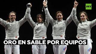 GOLD - USD Las esgrimistas rusas ganan el oro en sable por equipos en Tokio 2020