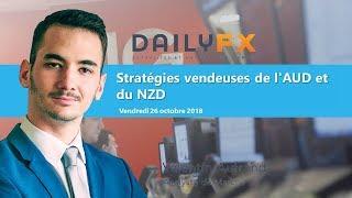 AUD/NZD Stratégies vendeuses de l'AUD et du NZD