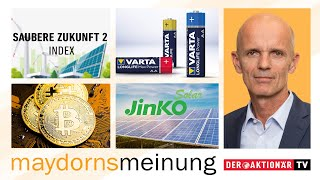 BITCOIN Maydorn: Apple, Bitcoin, Northern Data, Square, BYD, Samsung SDI, Varta, Jinko, Saubere Zukunft 2