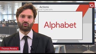ALPHABET INC. CLASS A Bourse - ALPHABET, prudence au-dessus des moyennes mobiles - IG 15.07.2019