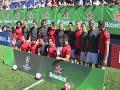 HEINEKEN - El partido de Heineken fusiona fútbol y rugby en la Plaza Mayor