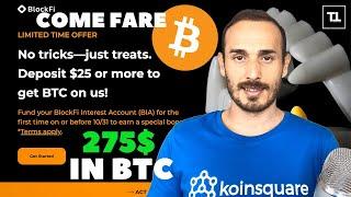 BITCOIN BONUS di 275$ in BITCOIN su BlockFi