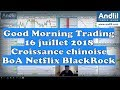 Andlil Good Morning Trading 16 juillet 2018 - la croissance chinoise