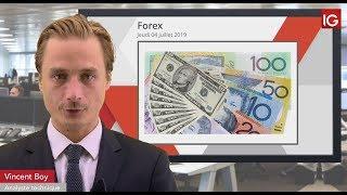 USD/CAD Bourse -  USDCAD, la baisse du dollar pourrait se poursuivre- IG 04.07.2019