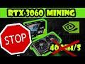 Test Mining RTX 3060, BRIDAGE NVIDIA ça tourne mal !
