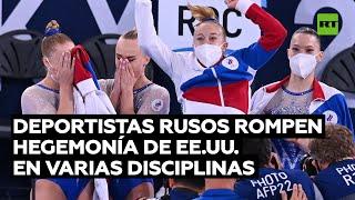 GOLD - USD Gimnastas rusas ganan el oro en la categoría por equipos en los JJOO por primera vez en su historia