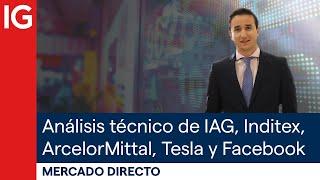 ARCELORMITTAL SA Análisis de cierre semanal de acciones como ArcelorMittal, Inditex, Colonial, IAG, Tesla y Facebook