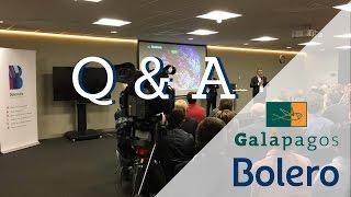 GALAPAGOS Op de eerste rij bij Galapagos - Q&A