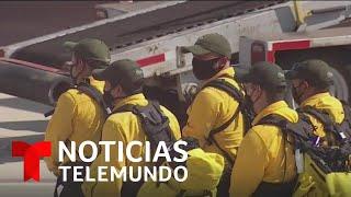 Bomberos mexicanos se unen al combate de las llamas de los incendios en California