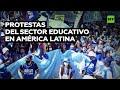 Mejoras laborales y 'no' a los recortes: docentes de América Latina en paro