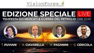 AMP LIMITED Tempesta sui Mercati & Guerra del Petrolio con Puviani, Ciavarella, Paganini e Cericola