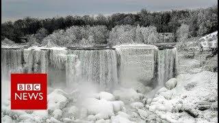 Niagara Falls becomes a 'winter wonderland' - BBC News