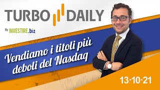 NASDAQ100 INDEX Turbo Daily 13.10.2021 - Vendiamo i titoli più deboli del Nasdaq