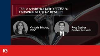TESLA INC. Tesla shareholder Ross Gerber discusses earnings after Q3 beat