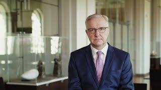 Finlands Banks år 2018, chefdirektor Olli Rehn