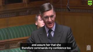 Mogg says May has his 'full confidence' as he suggests People's Vote could bring about #indyref2