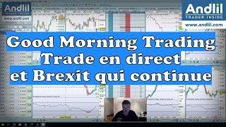 DAX30 Perf Index Good Morning Trading avec un trade en direct Dax 30